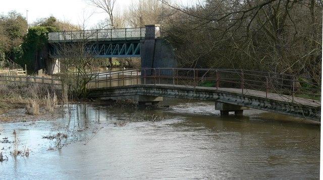Two bridges in Aylestone
