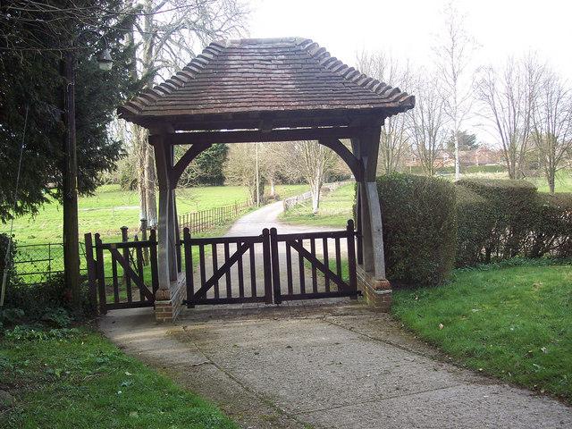 Lych gate, All Saints Church, Netheravon