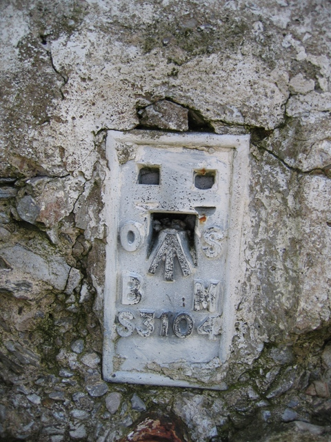 The Flush Bracket on the Moel Morfydd Trig Pillar