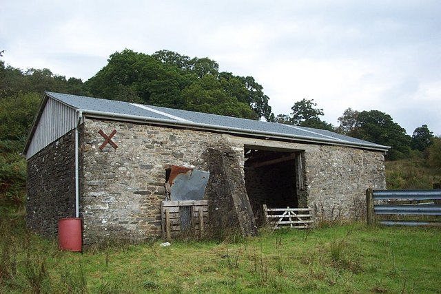 Old farm building on the West Road, Glendaruel
