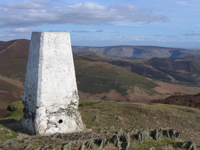The Summit and Trig Pillar of Moel Morfydd