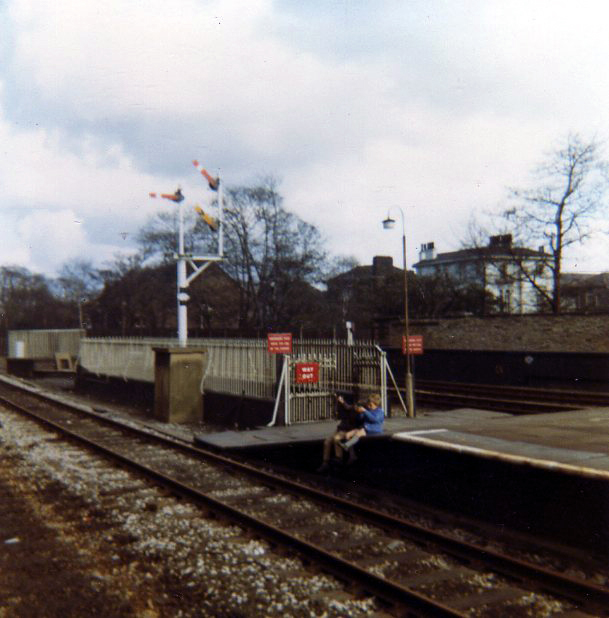 Huyton Station about 1970 - subway from middle platform