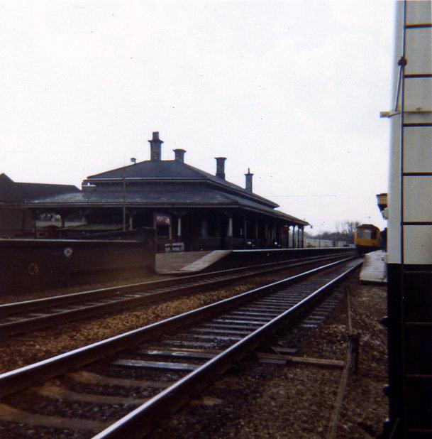 Huyton Station about 1970 - platform 1