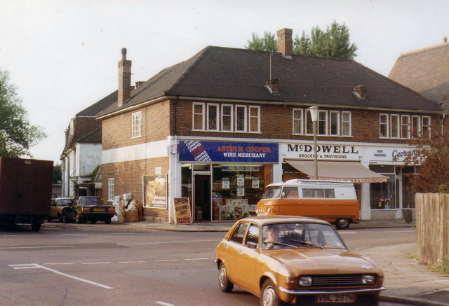 Shops in Strawberry Hill, 1984