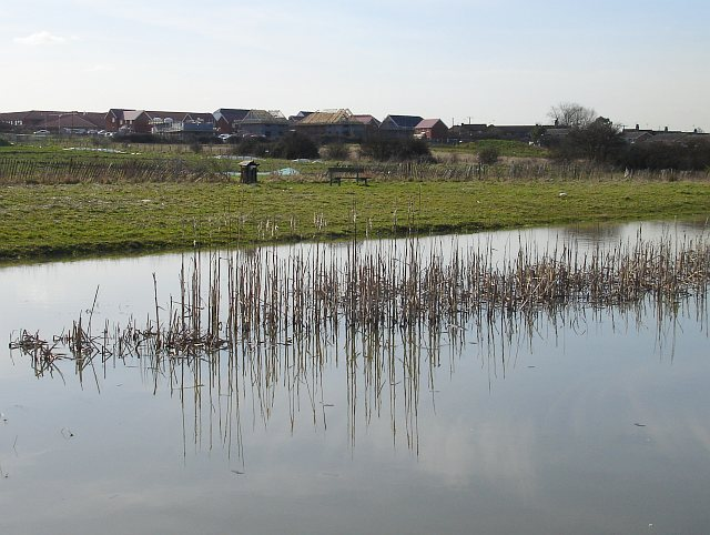 Lake behind new development on Plover Road