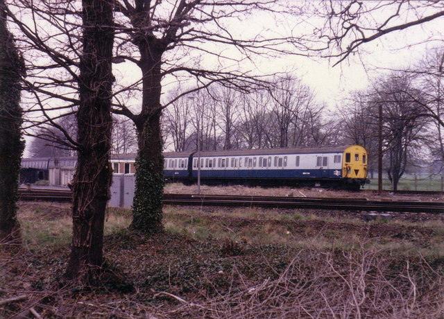 Train near Fulwell Depot, 1986