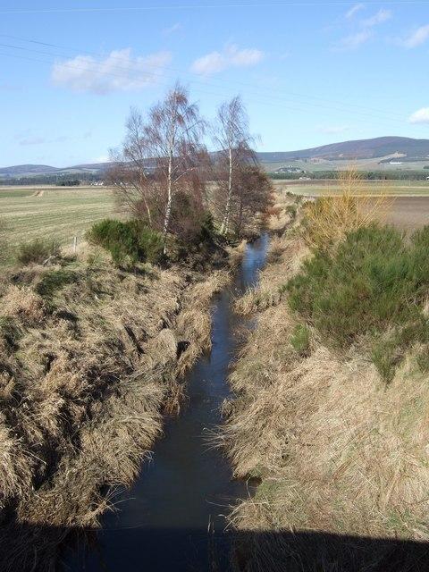Tarland Burn upstream from Coull bridge