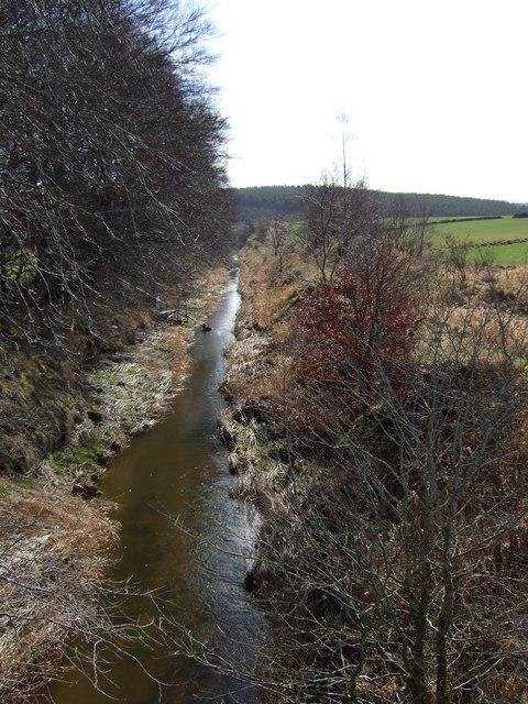 Tarland Burn downstream of Coull bridge.