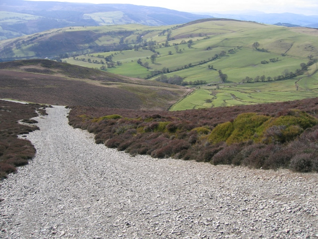 Track from Moel Morfydd