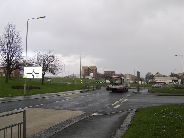 Drumry Road looking to Drumry Roundabout