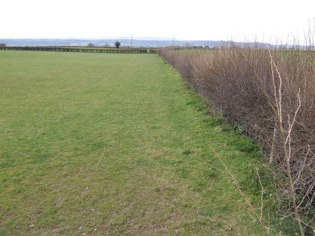 Footpath west to Bridge Sollers