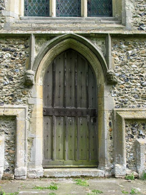 St Cecilia, Little Hadham, Herts - West doorway