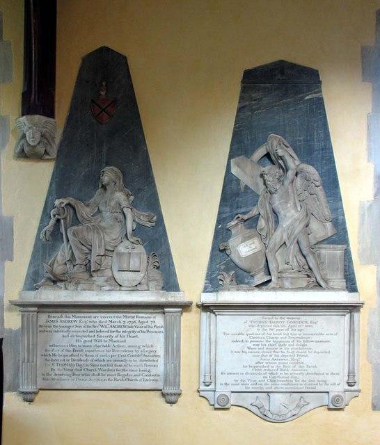 St Mary Magdalene, Barkway, Hertfordshire - Wall monuments