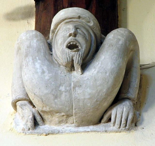 St Mary Magdalene, Barkway, Hertfordshire - Corbel