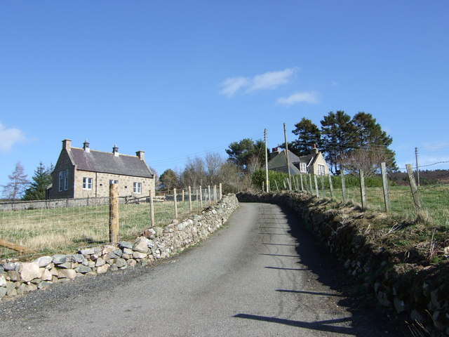 Road to Coull schoolhouse