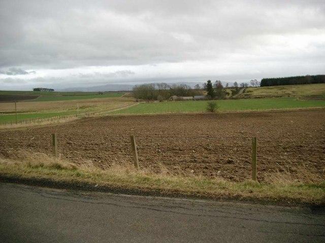 Ploughed field near Purgavie