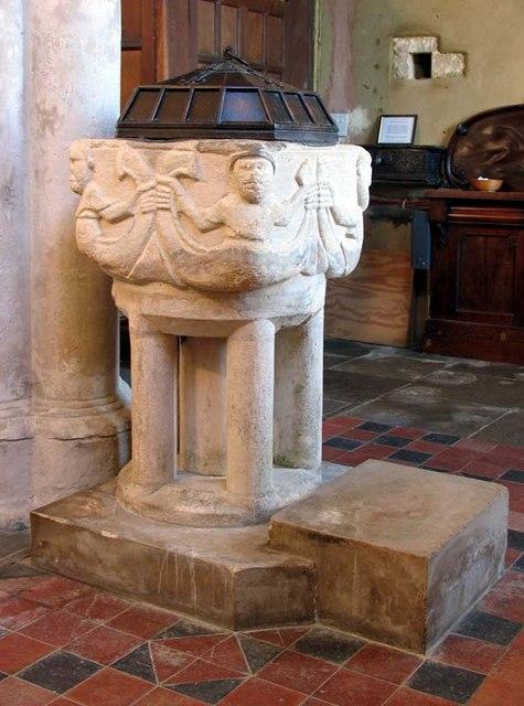 St George, Anstey, Hertfordshire - Font