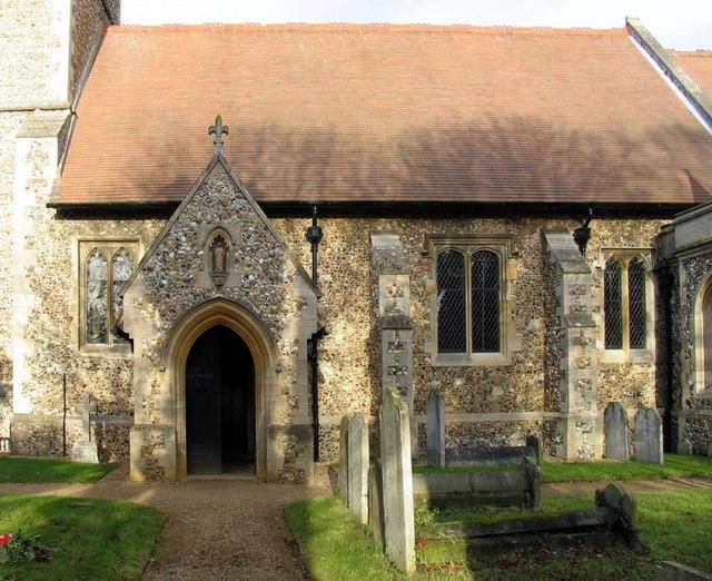 St Mary, Hertingfordbury, Herts - Porch