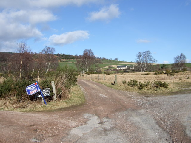 Junction for Boddomend and Kirkton Cottages