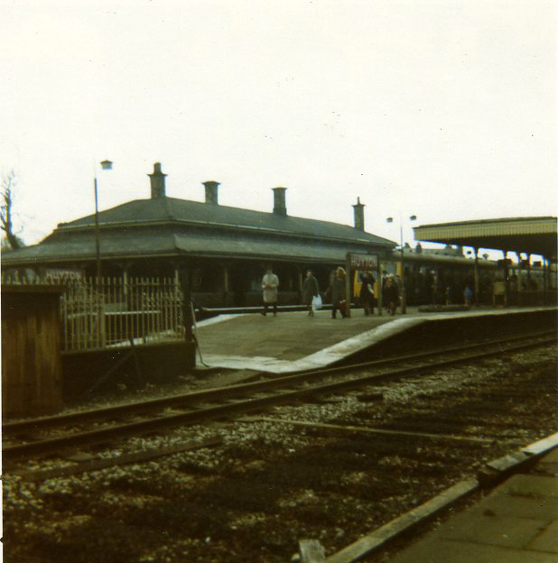 Huyton Station about 1970 - commuters' train