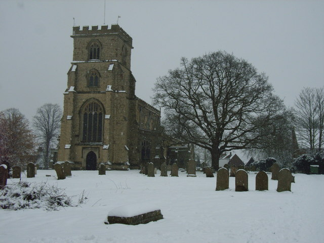 Wing Saxon Church Winter Time