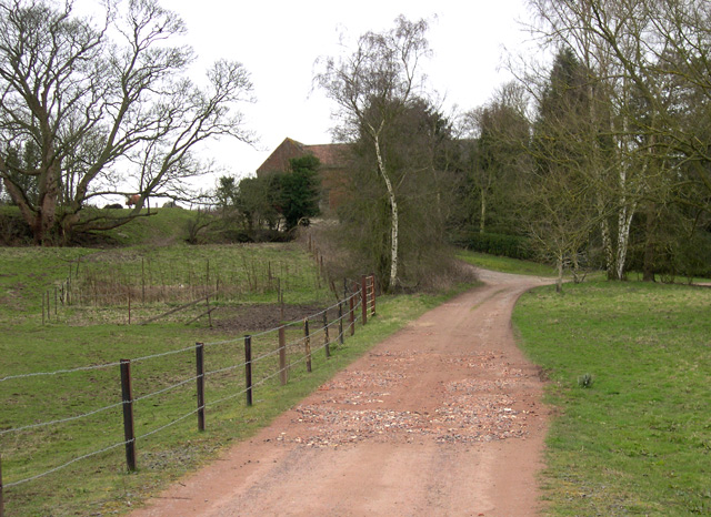 Track to Woodford Grange, Trysull, Staffordshire