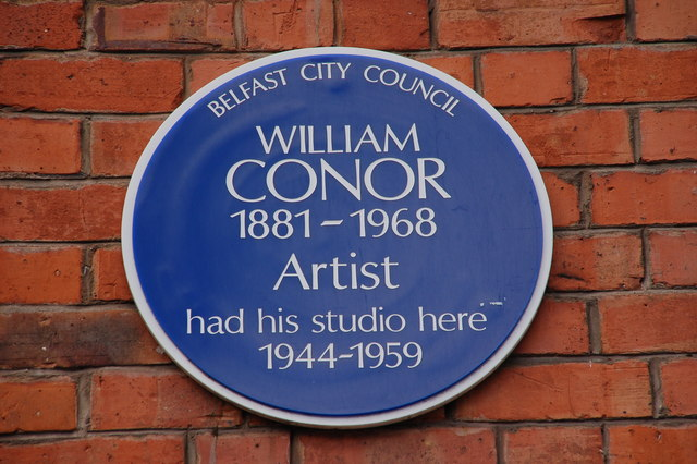 William Conor plaque, Stranmillis Road, Belfast
