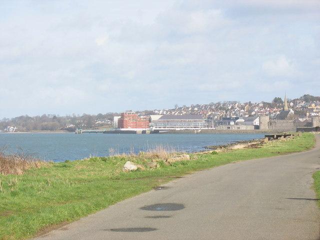 The Menai Strait shore south of Caernarfon