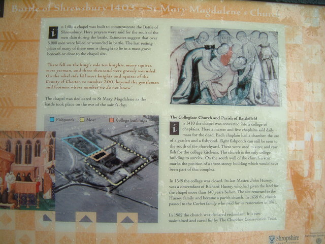 St. Mary Magdalene's Church, information board.
