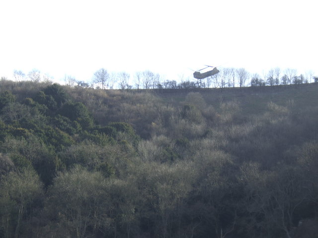 The army above Didling Hill