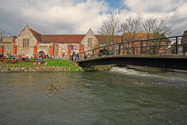 Footbridge over River Avon, Salisbury
