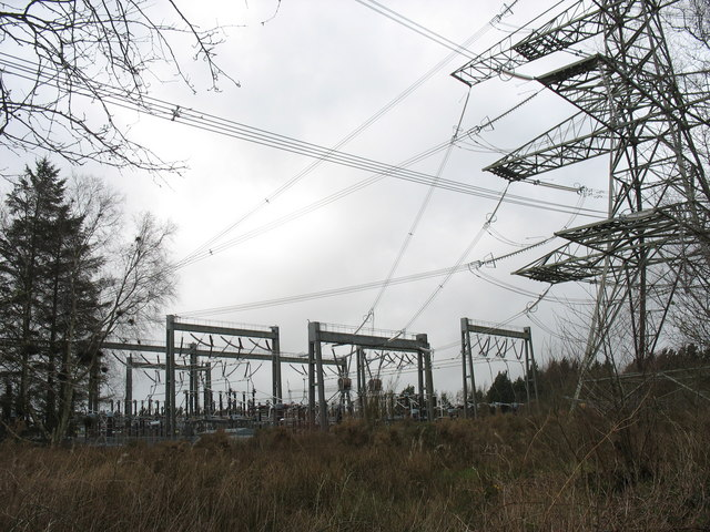 The north-western part of the Pentir Electricity Sub-station