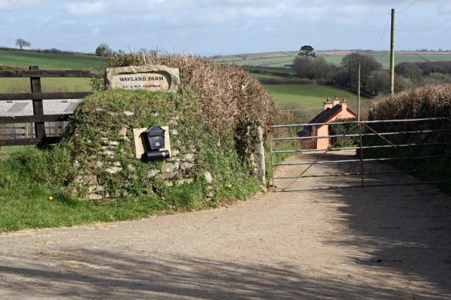 Driveway to Wayland Farm