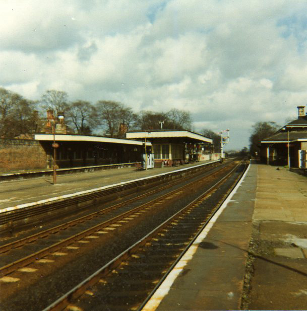Huyton Station about 1970 - view east from platform 1