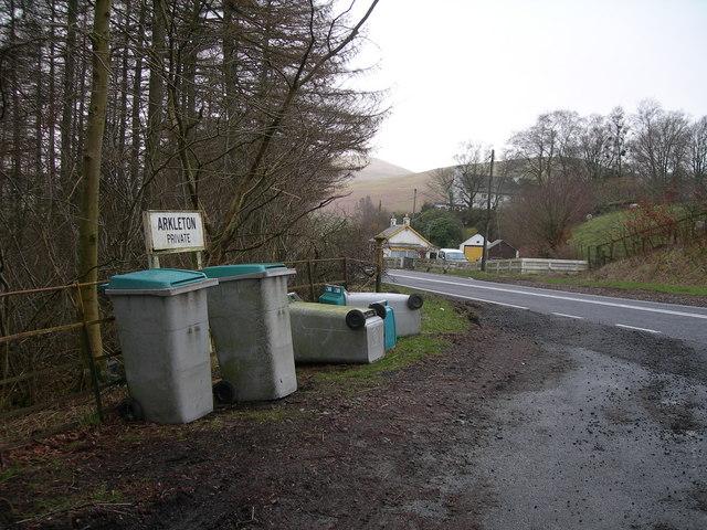 Entrance for Arkleton off A7