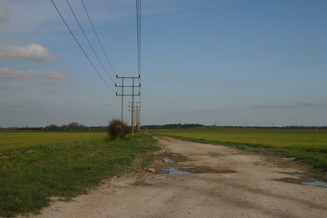 Farmland and track south of Burwell