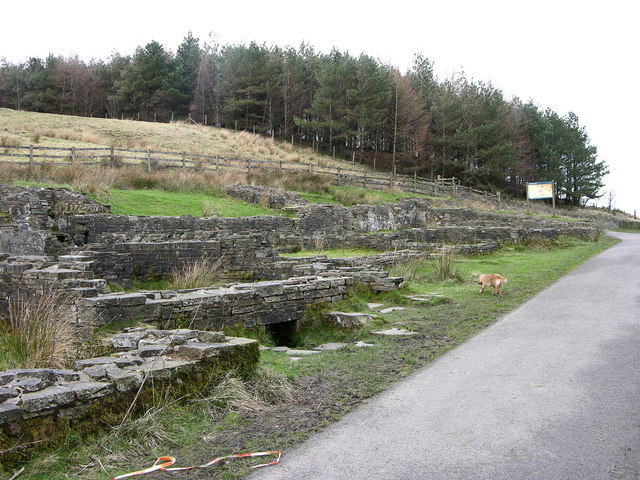 Excavated remains of Hartley House on Calf Hey Trail