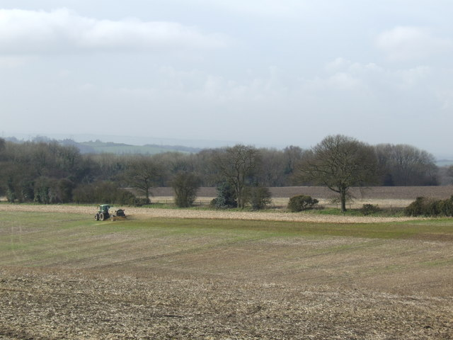 Muck-spreading on the Downs