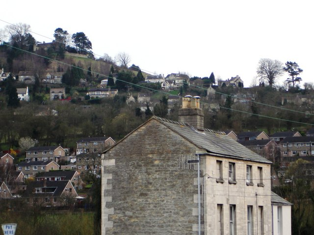 Large old stone building, near to Stroud Station