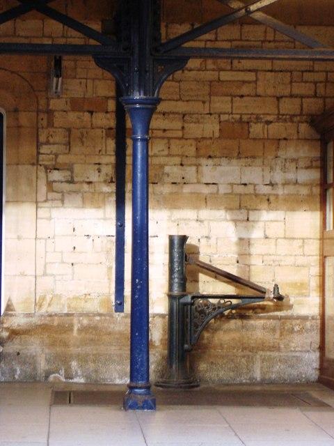 Old railway weighing machine