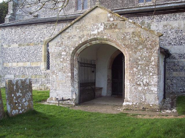 All Saints Church, Fittleton - Porch