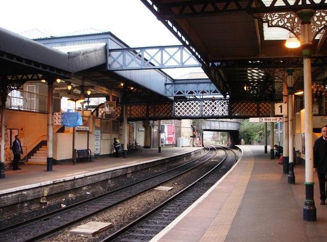 Cheltenham Spa Railway Station platform