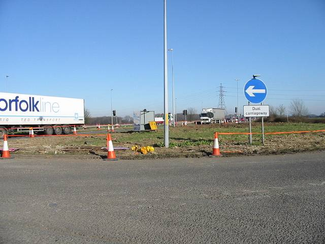 Junction of Lydden Hill with the A2