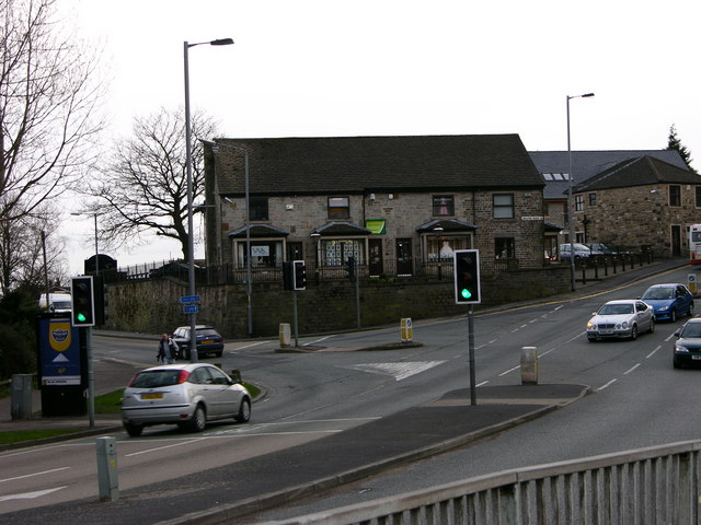 Traffic lights at Holcombe Brook