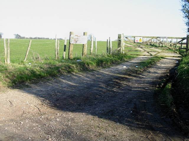 Gate entrance to MOD land