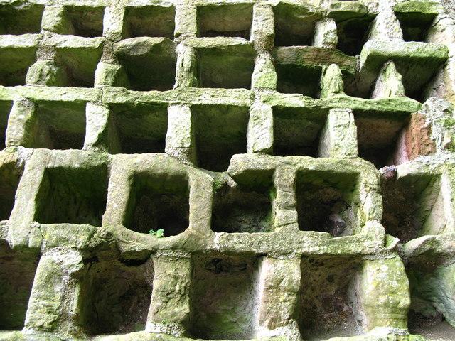 Stone nests, Hailes Castle doocot