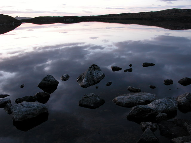 Loch an t-Sagairt at Sunset in February