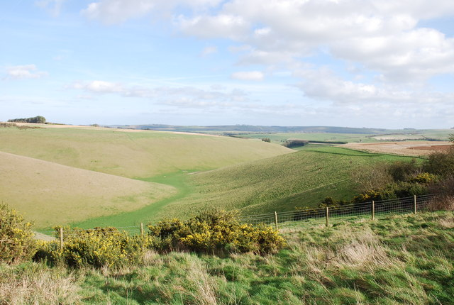 From North Hill to Prescombe Down