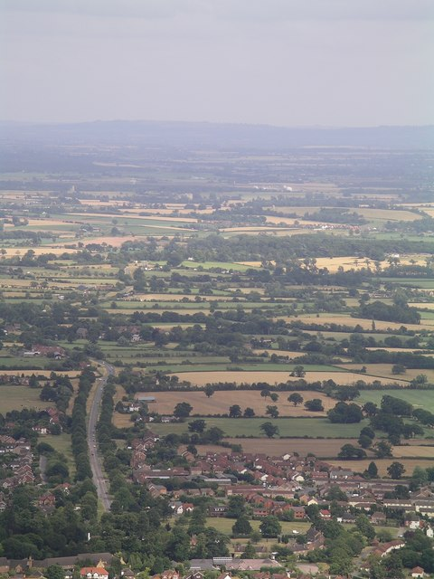 A view to the east of the Malvern Hills