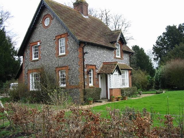 Interesting flint and brick house, Wootton